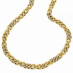 Bvlgari Bulgari Bulgari Diamond Accented Gold Chain - 1167277