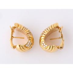 Bvlgari Bulgari Bulgari Pair of 18K Gold and Diamond Parentesi Earrings - 1206526