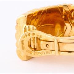 Bvlgari Bulgari Bulgari Pair of 18K Gold and Diamond Parentesi Earrings - 1206530