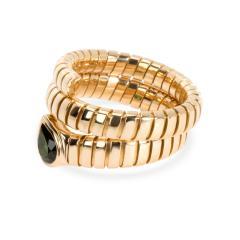 Bvlgari Bulgari Bulgari Serpenti Garnet Tubogas Ring in 18K Yellow Gold - 1287493