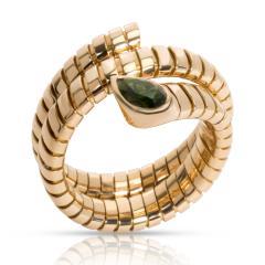 Bvlgari Bulgari Bulgari Serpenti Garnet Tubogas Ring in 18K Yellow Gold - 1287494