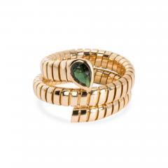 Bvlgari Bulgari Bulgari Serpenti Garnet Tubogas Ring in 18K Yellow Gold - 1289265