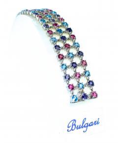 Bvlgari Bulgari Bulgari multi stone bracelet in 18K white gold - 1139482