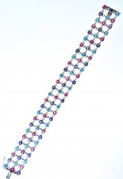 Bvlgari Bulgari Bulgari multi stone bracelet in 18K white gold - 1139494
