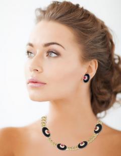 Bvlgari Bulgari Bvlgari Diamond Black Onyx and Ruby Necklace - 1028874