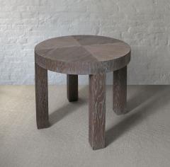 C J Peters Cerused Oak Side Table - 715066