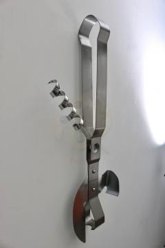 C Jer Curtis Jere Wall Mount Can Opener Sculpture in Stainless Steel - 513829