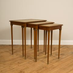 COMTE A nest of three mahogany tables attributed to Comte Circa 1940 - 2107585
