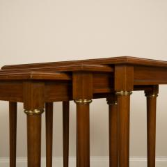 COMTE A nest of three mahogany tables attributed to Comte Circa 1940 - 2107587