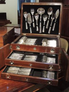 Calderoni Complete Silver Set in Wooden Chest by Calderoni Fratelli - 1334066