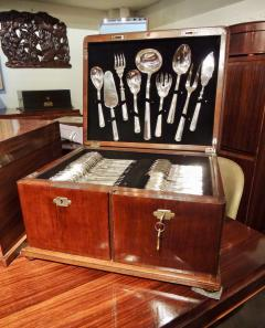 Calderoni Complete Silver Set in Wooden Chest by Calderoni Fratelli - 1334070