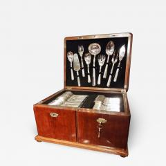 Calderoni Complete Silver Set in Wooden Chest by Calderoni Fratelli - 1334903