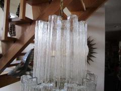 Camer Glass Monumental 6 Foot Camer Venini Glass Tronchi Tube Chandelier Mid century Modern - 1877327
