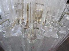 Camer Glass Monumental 6 Foot Camer Venini Glass Tronchi Tube Chandelier Mid century Modern - 1877328