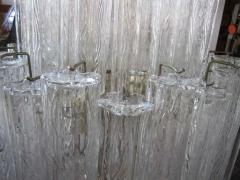 Camer Glass Monumental 6 Foot Camer Venini Glass Tronchi Tube Chandelier Mid century Modern - 1877329