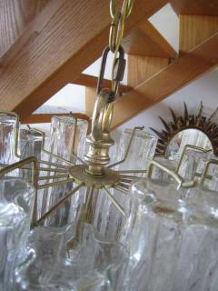 Camer Glass Monumental 6 Foot Camer Venini Glass Tronchi Tube Chandelier Mid century Modern - 1877330