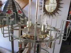 Camer Glass Monumental 6 Foot Camer Venini Glass Tronchi Tube Chandelier Mid century Modern - 1877341
