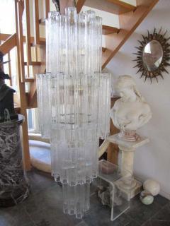 Camer Glass Monumental 6 Foot Camer Venini Glass Tronchi Tube Chandelier Mid century Modern - 1877346