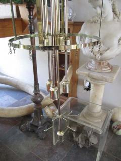 Camer Glass Monumental 6 Foot Camer Venini Glass Tronchi Tube Chandelier Mid century Modern - 1877349