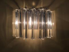 Camer Glass Pair of One Tier Rounded Design Sconces - 114774