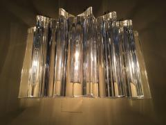 Camer Glass Pair of One Tier Rounded Design Sconces - 114776