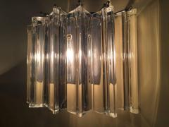 Camer Glass Pair of One Tier Rounded Design Sconces - 114778