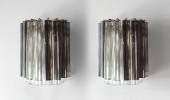 Camer Glass Pair of Vintage Camer Glass Sconces - 1119298