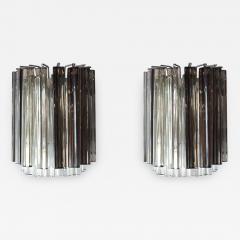 Camer Glass Pair of Vintage Camer Glass Sconces - 1120052
