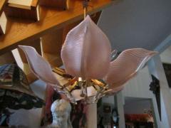 Camer Glass Stunning Pink Camer Glass Lily Chandelier Hollywood Regency - 1768318