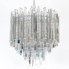 Camer Glass Tiered Italian Crystal Chandelier by Camer circa 1970s - 548653