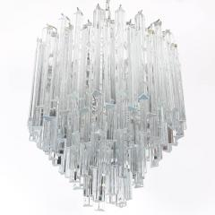 Camer Glass Tiered Italian Crystal Chandelier by Camer circa 1970s - 548654