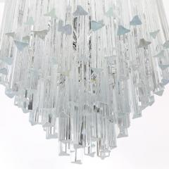 Camer Glass Tiered Italian Crystal Chandelier by Camer circa 1970s - 548655