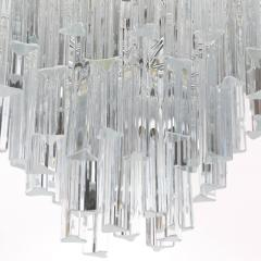Camer Glass Tiered Italian Crystal Chandelier by Camer circa 1970s - 548656