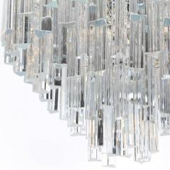 Camer Glass Tiered Italian Crystal Chandelier by Camer circa 1970s - 548659