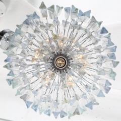 Camer Glass Tiered Italian Crystal Chandelier by Camer circa 1970s - 548660