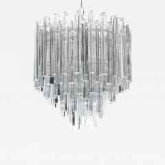 Camer Glass Tiered Italian Crystal Chandelier by Camer circa 1970s - 550139