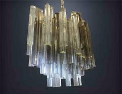 Camer Glass Two Color Smoke and Clear Murano Chandelier by Camer - 147663