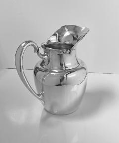 Camusso 1950s Camusso Sterling Silver Water Pitcher Lima Peru - 1819676
