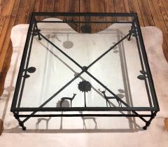 Carole Gratale Design Giacometti inspired elements table in cast bronze - 1467861