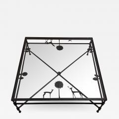 Carole Gratale Design Giacometti inspired elements table in cast bronze - 1468658