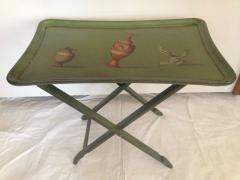 Carole Stupell Ltd Carole Stuppell Hand Painted Folding Tea Tables with Stand - 83511