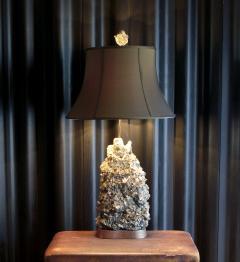 Carole Stupell Ltd Rare 1950s Pyrite Quartz Rock Crystal Table Lamp By  Carole Stupell   153865
