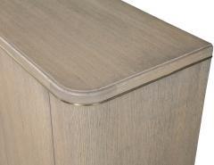 Carrocel Interiors Custom Cerused Oak Sideboard Buffet with Brass Accents by Carrocel - 1998374
