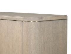 Carrocel Interiors Custom Cerused Oak Sideboard Buffet with Brass Accents by Carrocel - 1998376