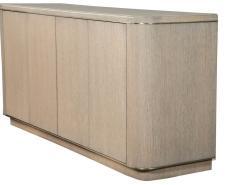 Carrocel Interiors Custom Cerused Oak Sideboard Buffet with Brass Accents by Carrocel - 1998377