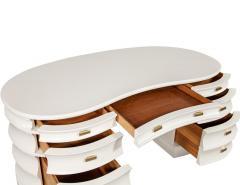 Carrocel Interiors Custom Curved Modern Cream Executive Desk - 1707750