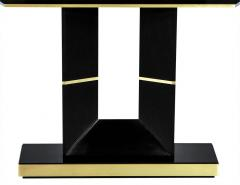Carrocel Interiors Custom Modern Black Lacquered Console Table by Carrocel - 1830512