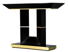 Carrocel Interiors Custom Modern Black Lacquered Console Table by Carrocel - 1830513
