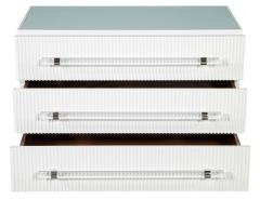 Carrocel Interiors Custom Modern White Chests with Ribbed Facade - 1626054