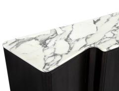 Carrocel Interiors Custom Serpentine Modern Styled Marble Top Sideboard Buffet by Carrocel - 1998441